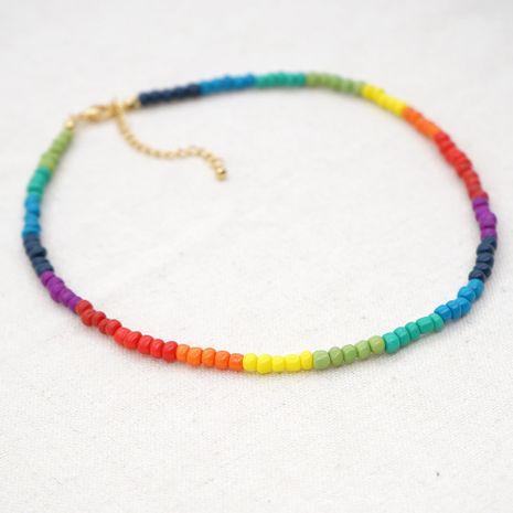 Collier de mode de perle arc-en-ciel de conception de niche pour les bijoux de femmes hot-saling NHGW243593's discount tags