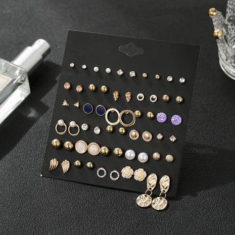 Nouveau 30 paires de boucles d'oreilles en alliage rétro exagérées géométriques à cercle irrégulier pour femmes NHSD243604's discount tags