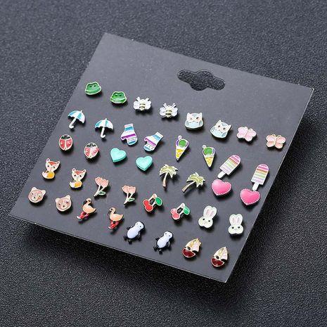 Boucles d'oreilles en alliage de mode coréenne insecte animal coccinelle fruits NHSD243605's discount tags