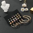 12 pairs  combination small cute Korean circle earrings set  wholesale  NHSD243617