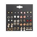 popular geometric metal star earrings set  wholesale  NHSD243618