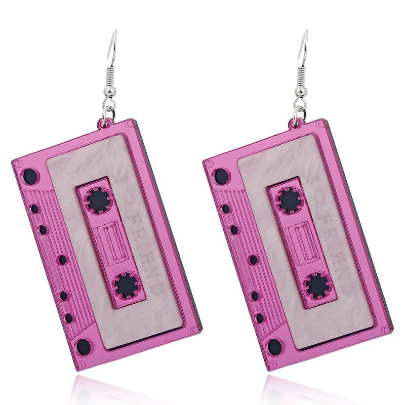 new trend acrylic Korean exaggerated funny retro tape alloy earrings NHXI243621