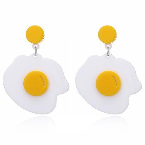 Korean fried eggs sweet and cute girl line hot-saling acrylic alloy earrings  NHXI243627's discount tags