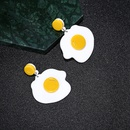 Korean fried eggs sweet and cute girl line hotsaling acrylic alloy earrings  NHXI243627