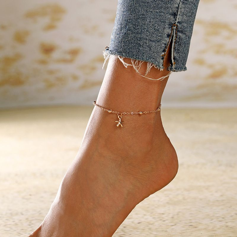 new fashion simple starfish metal alloy anklet for women wholesale NHXI243638