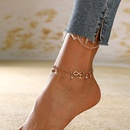 New footwear fashion simple good luck number 8 crystal fivepointed star tassel multilayer anklet NHXI243641