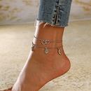 new fashion retro love moon sun alloy anklet 2piece set for women wholesale NHXI243643