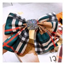 Korean retro plaid full diamond big bow  hairpin wholesale NHHD243655