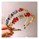 crystal baroque geometric size mixed color diamond headband  wholesale  NHHD243656
