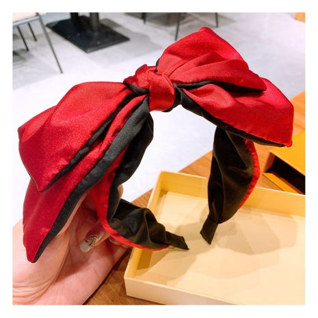 retro satin silk double-layer bow  all-match headband   wholesale  NHHD243661's discount tags