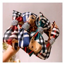 retro British style double full diamond bow hair band hairpin wholesale  NHHD243664
