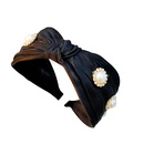 Simple Korean diamond nail pearl hot style knotted headband  wholesale  NHUX243668