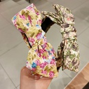 Korean cute printing big bow headband  wholesale  NHUX243674