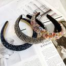 fashion crystal  womens rice bead braided hairband wholesale NHUX243676