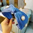 NHUX899915-Blue-double-layer-bright-silk-satin-pearl-rhinest
