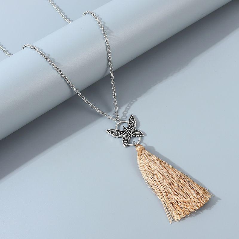 Korean creative fashion butterfly sweater chain wholesale nihaojewelry NHPS243732