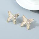 Fashion style butterfly rhinestone earrings wholesale nihaojewelry NHPS243735