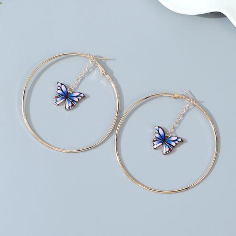 Boucles d'oreilles en alliage de papillon de fleur de tendance exagérée coréenne en gros nihaojewelry NHPS243736's discount tags