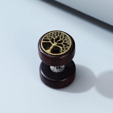 Moda coreana exageración creativa popular árbol pequeño hombres pendientes unilaterales al por mayor nihaojewelry NHPS243742's discount tags