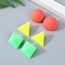 Korean Fashion Popular Creative and Triangle Ball Stud Earring Set wholesale nihaojewelry NHPS243743