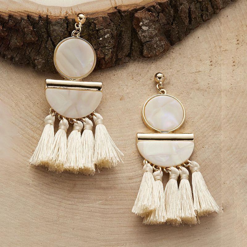 Bohemian ethnic style  tassel earrings NHMD243754