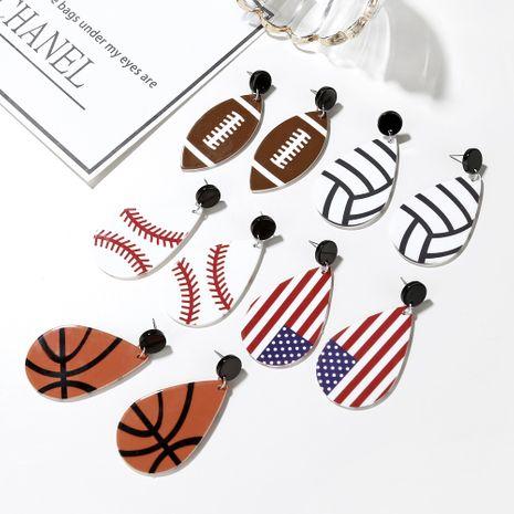 hot sale new acrylic drop basketball football earrings wholesale nihaojewelry NHXI243631's discount tags