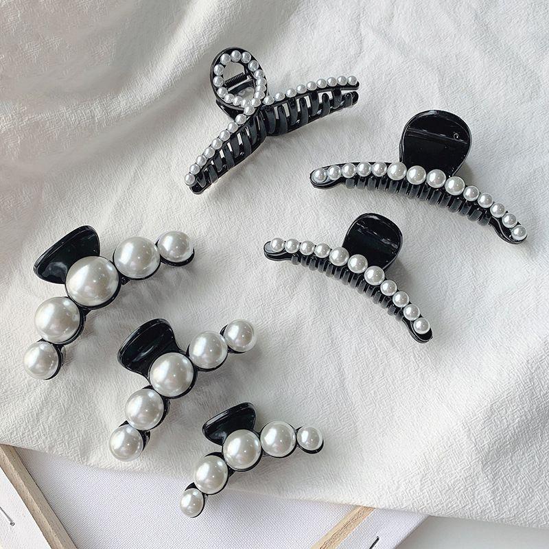 Korean pearl clip elegant large back head hairpin  wholesale nihaojewelry NHOF243565