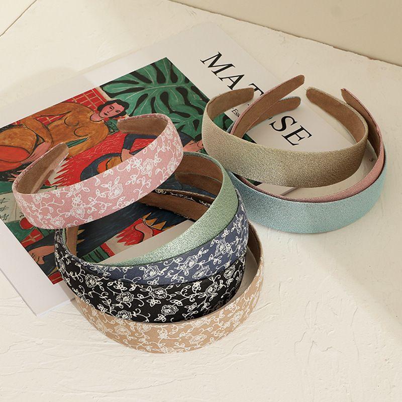 Korean flower wide-brimmed  floral simple  headband wholesale nihaojewelry NHNU243413
