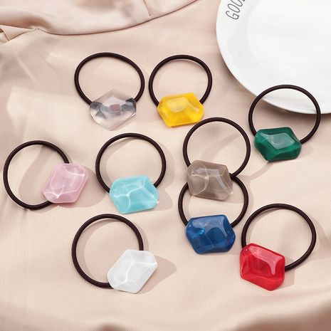 Korean  heart candy color  cute  simple geometric crystal hair  rubber  NHNU243390's discount tags