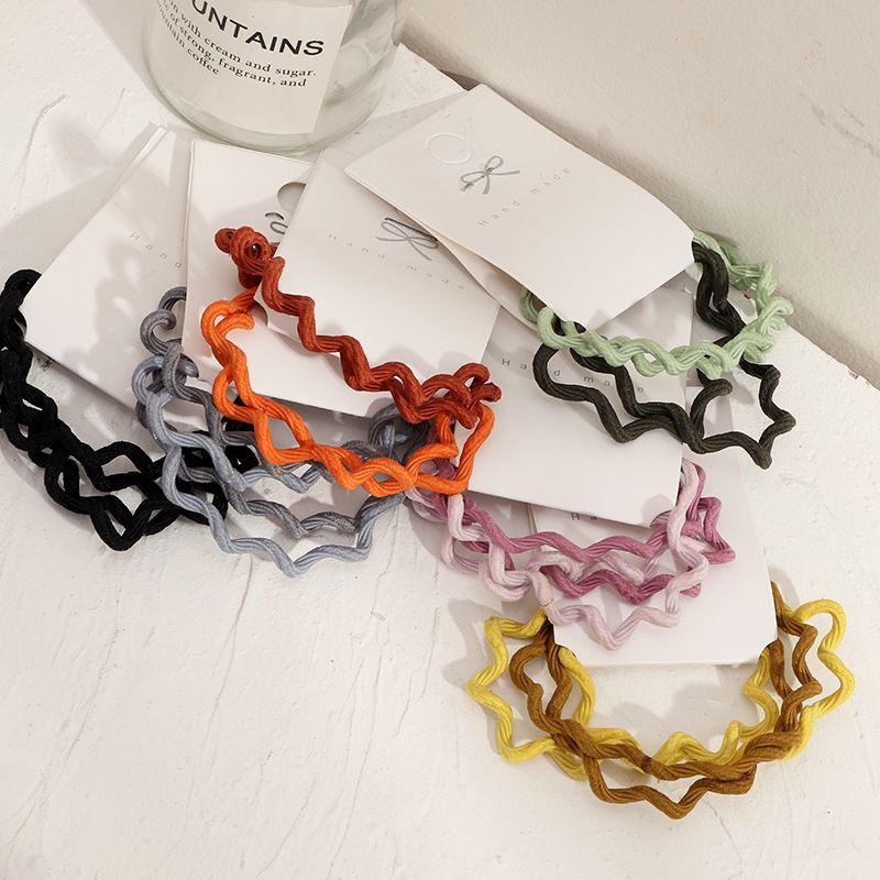 Korean  wavy simple  basic hair rope set  NHNU243385