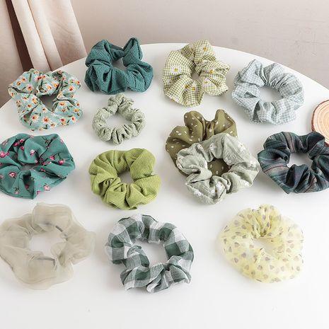 polka dot  flower printing color sweet hair scrunchies wholesale  NHNU243387's discount tags