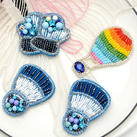 High-end beading blue cloud balloon clothing bags shoes decorative accessories NHNK243759's discount tags