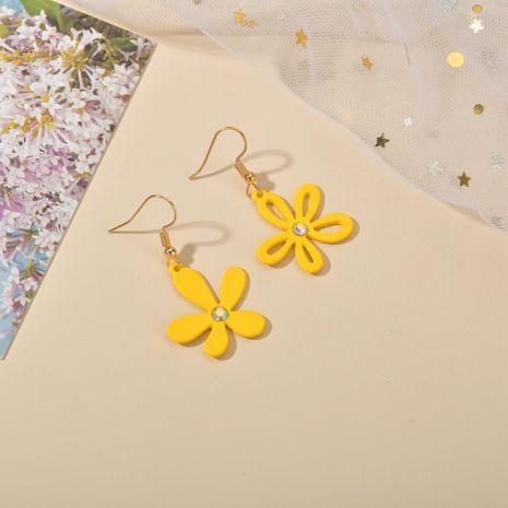 New Korea flower asymmetric hollow simple  earrings  NHBQ243783's discount tags