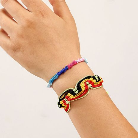 Bohemian hand-woven two multi-layered rope color jewelry bracelets for women NHLA243788's discount tags