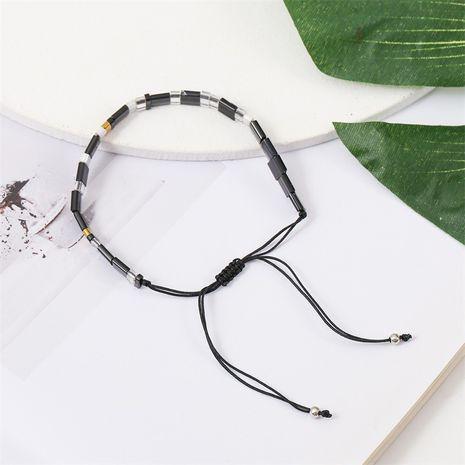 Korean cute ceramic handmade beaded woven crystal pull bracelet for women NHLA243789's discount tags