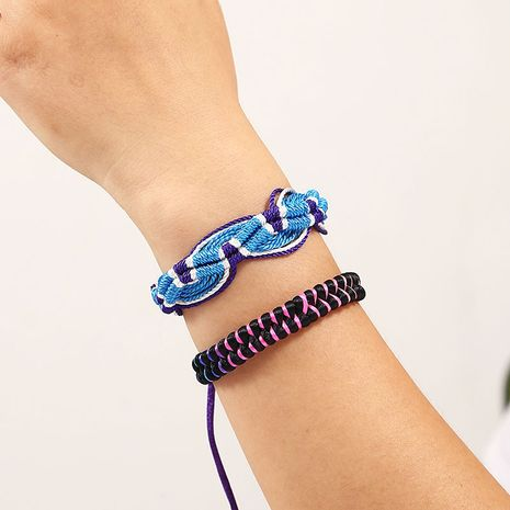 Bohemian hand-woven rope set two multi-layer bracelet for women NHLA243790's discount tags