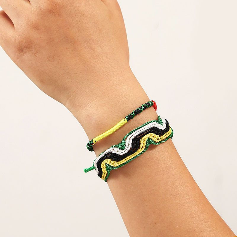 Bohemian Trend Color Rope Multilayer Hand-woven Bracelet Set for women NHLA243791