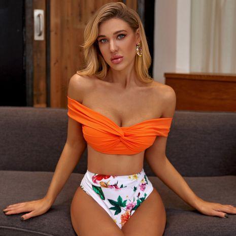 new split  flower print sexy bikini wholesale nihaojewelry NHZO243795's discount tags