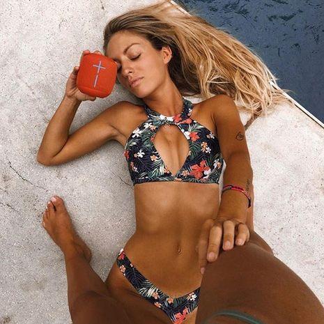 Sexy Swimsuit Halter Deep V Bikini wholesale nihaojewelry NHZO243822's discount tags
