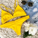 Vente chaude maillot de bain couleur unie Sexy Split maillot de bain bikini en gros nihaojewelry NHZO243856