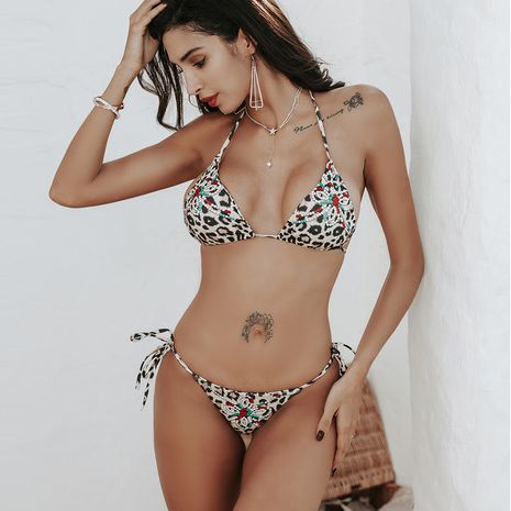 hot sale tied split swimsuit ladies bikini wholesale nihaojewelry NHZO243858's discount tags