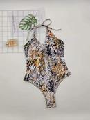 Venta al por mayor caliente del traje de bao de la venta del estampado de serpiente de una sola pieza de las nuevas seoras de la moda NHZO243869