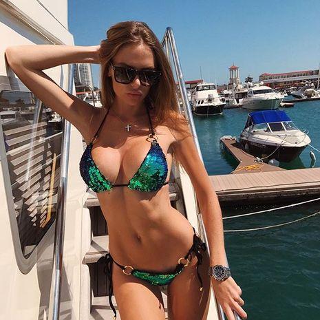 hot bikini sequin ladies split sexy sling bikini wholesale nihaojewelry NHZO243870's discount tags