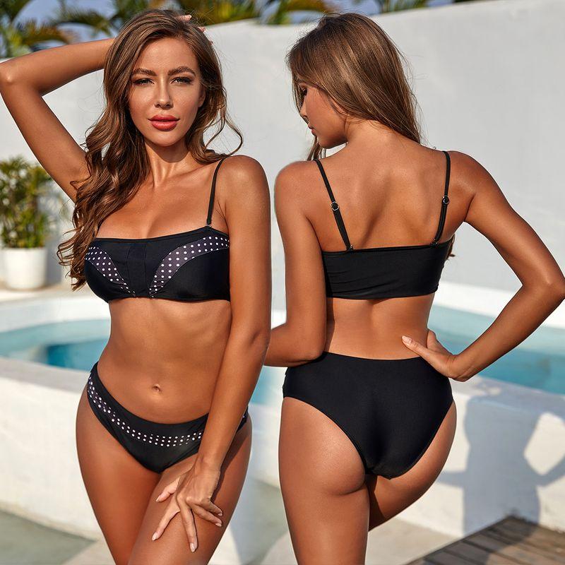 new hot sale Polka dot sling swimsuit ladies sexy split swimwear wholesale nihaojewelry NHZO243881