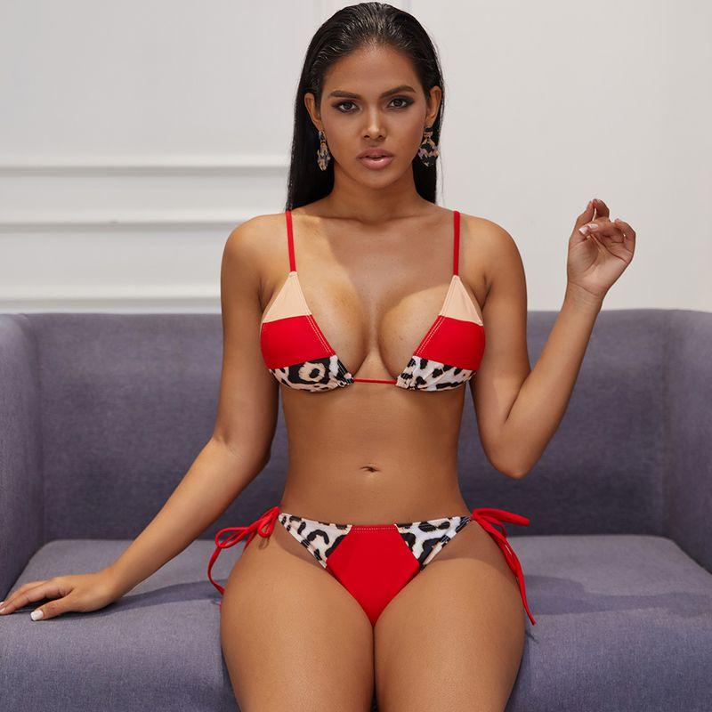 hot style stitching sexy sling ladies bikini wholesale nihaojewelry NHZO243886