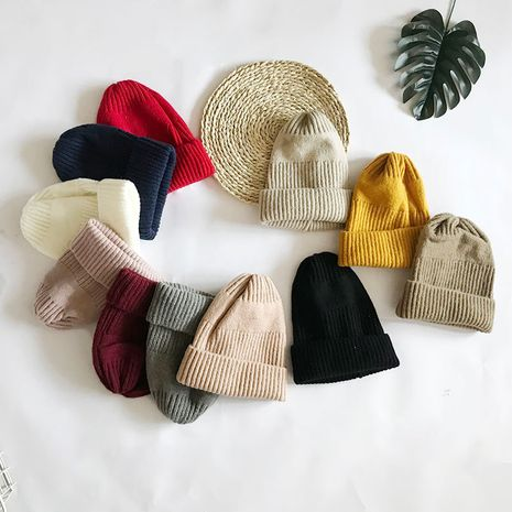 Fashion multi-color optional pure color wild wool outdoor thickening warm  knitted fashion ladies hat NHTQ243900's discount tags