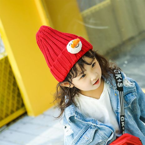 winter new outdoor cartoon bread hipster knitted  thick warm baby hat wholesale nihaojewelry NHTQ243906's discount tags