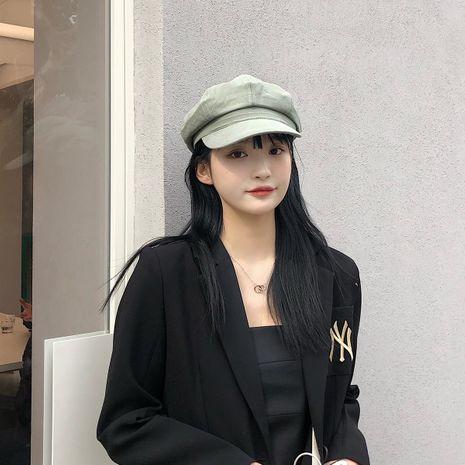 Sombrero de pintor de boina octagonal de sol de otoño e invierno de color puro coreano para damas NHTQ243909's discount tags