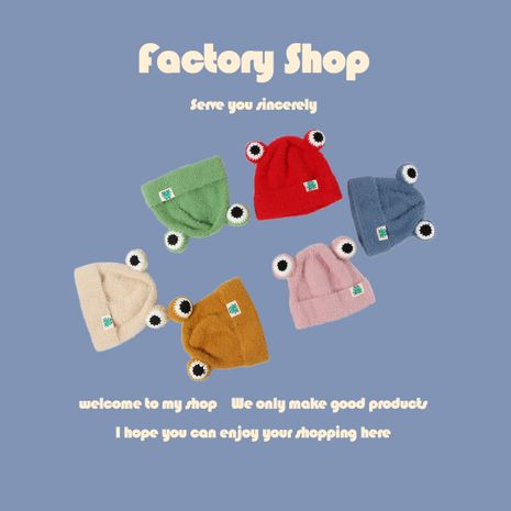 Frog woolen children's  new  hood wholesale nihaojewelry NHTQ243910's discount tags