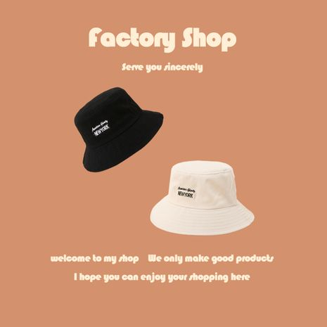 Fashion summer embroidery letter simple sun fisherman hat for women NHTQ243921's discount tags